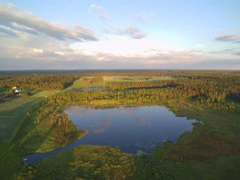 Ilmakuva Kurkelanjärvi, kuvannut Jari Kurkela
