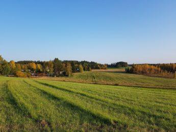 Tavastkenkää ruska-aikaan, maisema Kurkelanmäeltä, kuvannut Matti Leiviskä